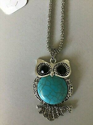 "Adorable!  Owl Pendant and Necklace 26""- NWT!"