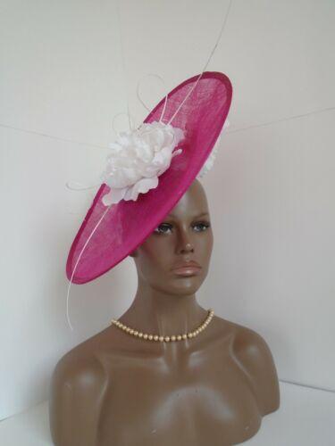large pink Kentucky derby ascot formal dress fancy wedding church big