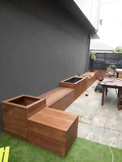 Solid Wooden Outdoor Bench and Storage Box