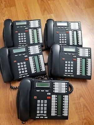 Nortel T7316e Professional Business Office Phone Lot 5 Phones