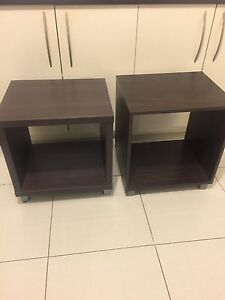Dark Brown Laminated Side / LampTables x 2 Pacific Pines Gold Coast City Preview