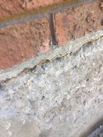 Parging and repairs and stamped concrete