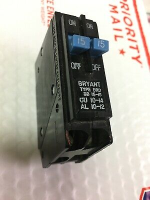 Bryant Ep15-15 Twin  Tandem Breaker 1515a - 120v Westinghouse Murray
