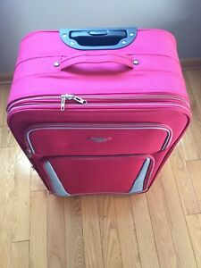 Red suitcase / luggage 30""