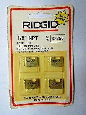 Ridgid 37855 18 Npt 12-r Hs Pipe Threading Dies O-r 111-r 11-r 00-r