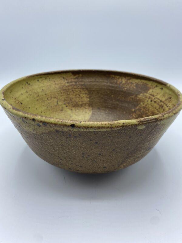"Vintage Ceramic Footed Studio Pottery Bowl 8"" Artist Signed"