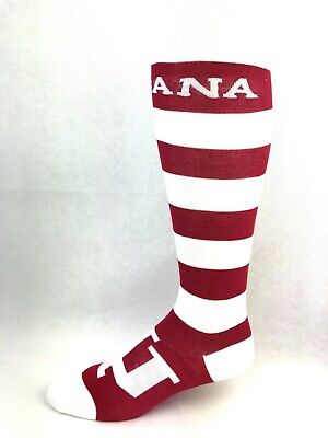 Indiana Hoosiers Red and White Striped Thin Long - Red And White Long Socks