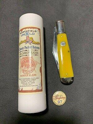 Great Eastern Northfield #97 Allegheny Smooth Yellow Rose Bone Coke Bottle Knife