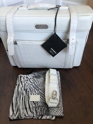 RARE Samsonite Alexander McQueen Black Label Boarding Bag - Ivory - NWT