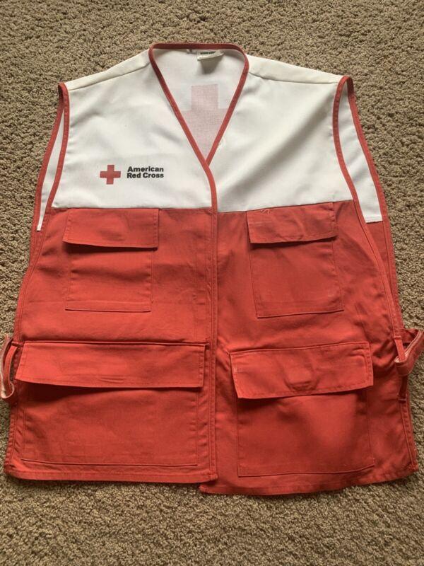 Vtg Hanover Uniform AMERICAN RED CROSS DISASTER RELIEF VEST Sz S