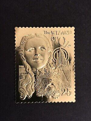 GandG US Stamps #2445 Wizard Of Oz 22kt Gold Replica