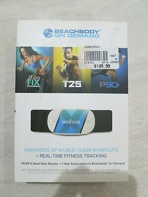 Wahoo BeachBody on Demand TICKR X Heart Rate Monitor Real Time Fitness Tracking