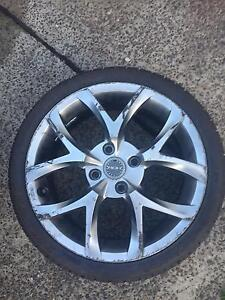 Honda Civic Mantis Hyper Silver Mag wheel (one Only) Newcastle Newcastle Area Preview