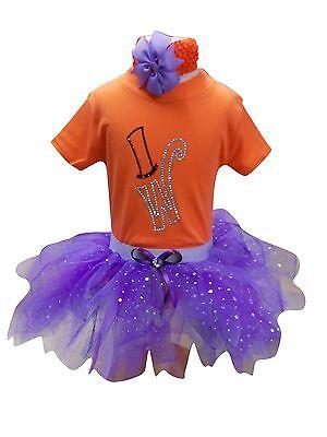 Baby Girl Toddler Tutu Top Willy Wonka Rhinestone Fancy Dress (Willy Wonka Girl Kostüme)