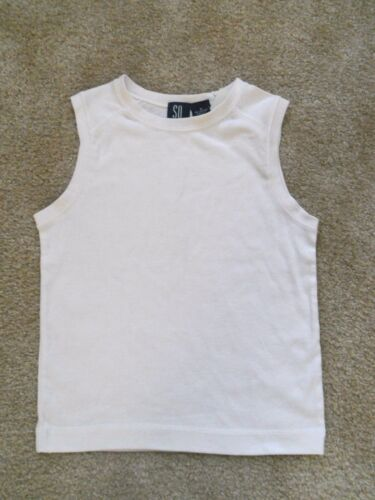 NWT So..Kohls Dance Gymnastics Cheer Sleeveless White Top CS Small 6 7 8 Girls