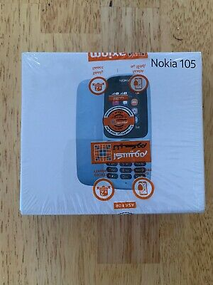 Nokia 105 DUAL SIM TA-1034 Dual-Band (900/1800) Factory Unlocked Phone BLACK NEW