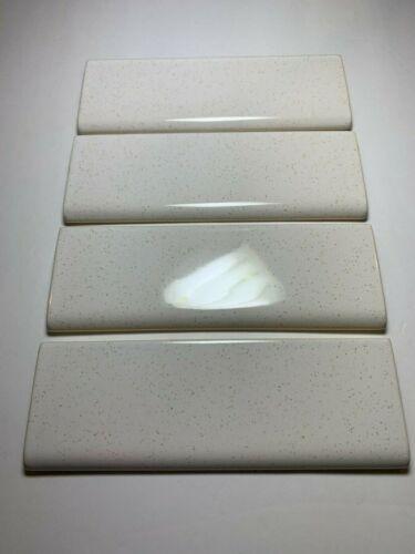 VINTAGE NEW  SRI LANKA  2 X 6  CAPS  WHITE / GOLD SPECKLED  * 4 *  TILES