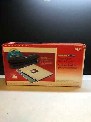Gbc Docubind Personal Presentation Binding System Fast Shipping