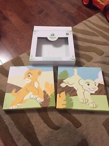 2 Disney lion king wall decor new in box   Simba and Nala