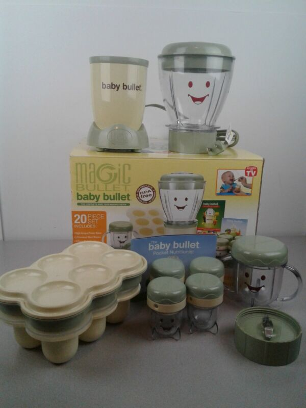 Magic Baby Bullet baby food making system in box - missing pieces