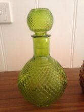 Green vintage retro genie bottle with stopper mid century Berwick Casey Area Preview