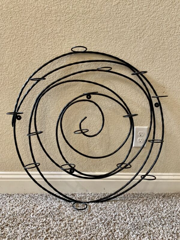 Pottery Barn Hanging Spiral Iron Votive Candle Holder Wall Art Decor RETIRED