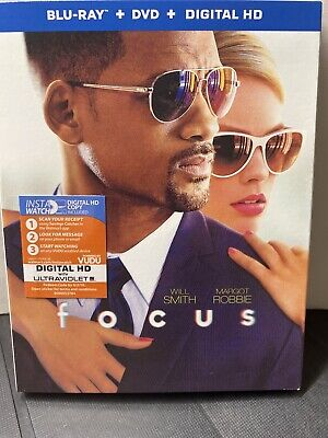 FOCUS (Blu-ray + DVD + Digital HD + Slipcover) Brand New Sealed