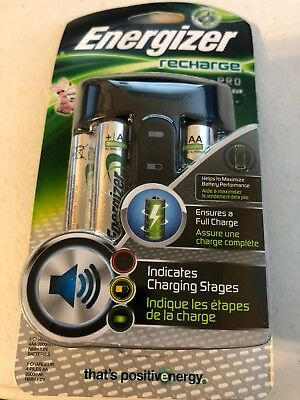 Energizer Rechargeable AA and AAA Battery Charger (Recharge Pro) with 4 AA NiMH
