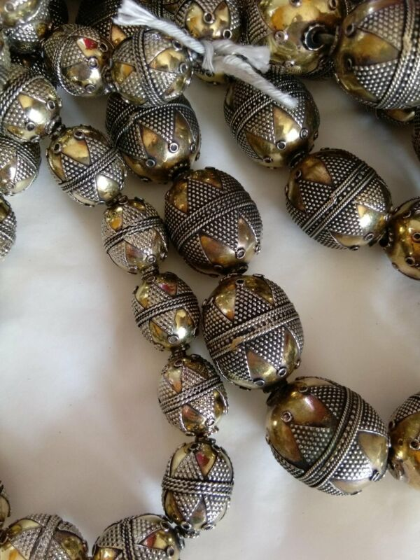 Central Asian Kazakh Brass Beads Pick Size and Quantity (#7851)