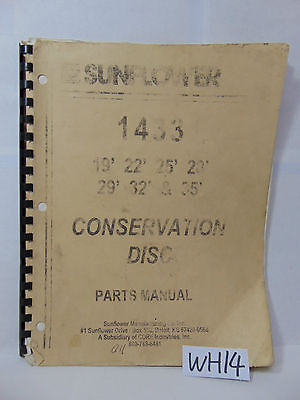 Sunflower Farm Book Parts Manual Conservation 1433 Disc 19 22 25 28 29 32 35