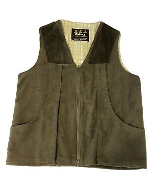 Barbour Vest Sporting Hunting Waistcoat Gilet  XL Olive Green Made In England