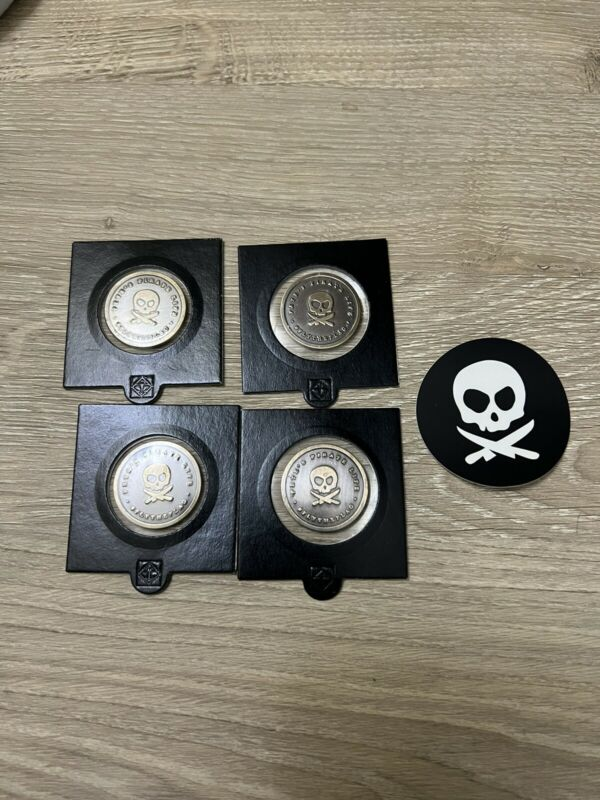 Peter Mckinnon Petes Pirate Life Share Tokens/Coins - Set of 4 - SEALED