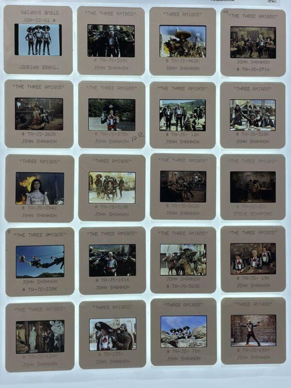 20 Three Amigos Movie 35mm Slides Press Kit Publicity Promo Vintage Lot #2