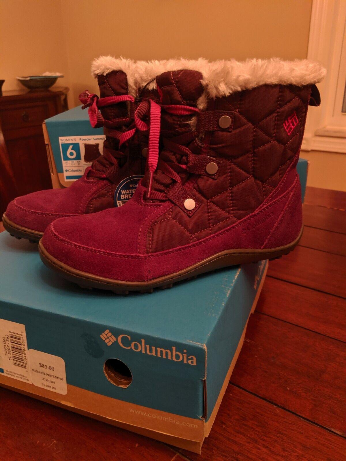 Women's Columbia Powder Summit Shorty Winter Boots, US Size