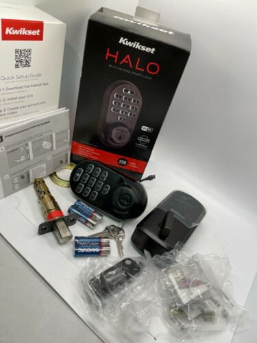 Kwikset Halo Venetian Bronze Finish Wi-Fi Keypad Smart Lock With 250 User Codes