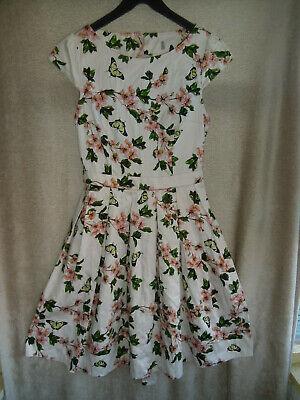 VINTAGE 1950S STYLE SUMMER DRESS 10 FLORAL