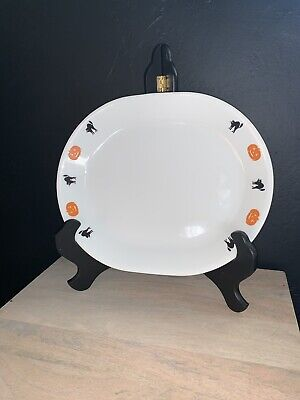 Corelle Oval Serving Platter - Halloween Cats 'n Pumpkins Pattern - Serving Platters Halloween