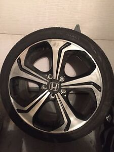 225-40-R18  2015 Honda Civic Si mags and tires