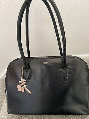 Radley Black Leather Casual Business Work Shoulder Large Handbag