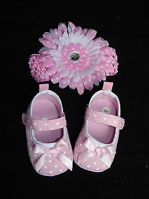 Set Schuhe Ballarinas Ballerinas + Haarband Stirnband Haarschmuck Baby Blume