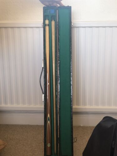 John Bennett and Co Billiard Snooker Cue with Original Case and Chalk