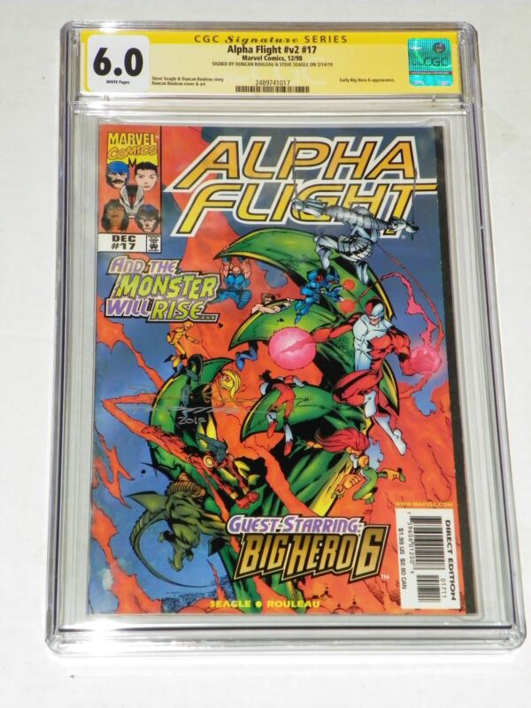 Alpha Flight 17 CGC 6.0 Big Hero 6 Appearance 2x Signed D Rouleau S Seagle