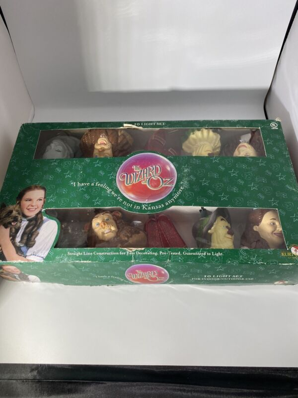Wizard of Oz 10 String Christmas/Holiday Real Lights Vintage New