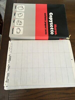 Vtg Lotfull Box Huron Copysette Carbons 30 Pages Dennison Carbon Addresslabels