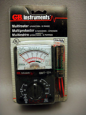 Vintage Gb Instruments Gmt 12a Multimeter 5 Function 12 Range New Old Stock