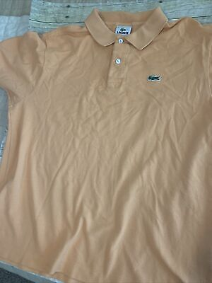 EUC Men's Size 6 Light Orange Lacoste Classic Polo