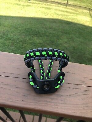 Black And Neon Green Barb Wire Bow Wrist Sling