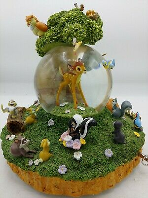 "Disney Bambi, friends and Flower ""Little April Showers"" Musical Snowglobe"