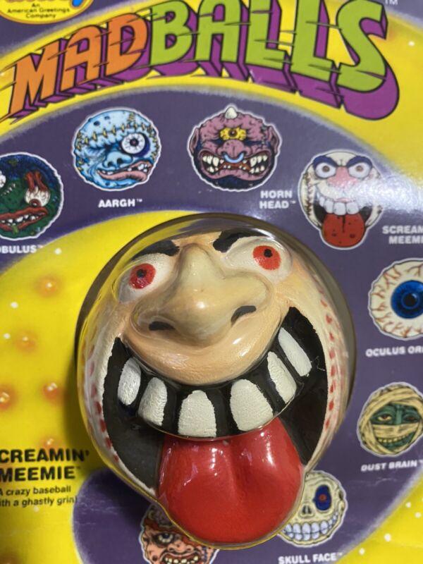 🌟 Vintage Original Amtoy 1985 MadBall SCREAMIN MEEMIE MadBalls Monster Toy NEW