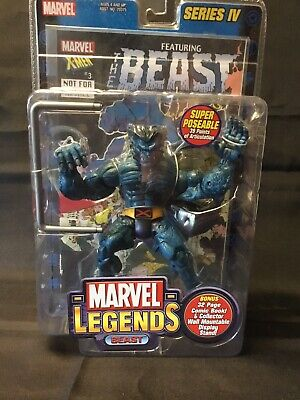 Marvel Legends Series 4 IV Action Figure Comic Beast Sealed X-Men 2003 Rare